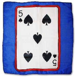 Sitta Card Silk - Blu - Cm 60 x 60 - 5 di picche
