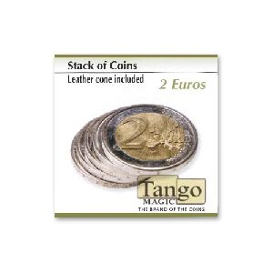 Stack of coins (leather cone included) - 2 Euro